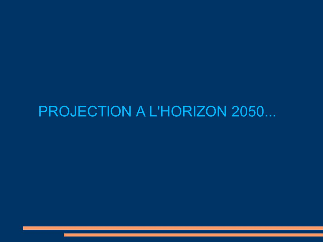 PROJECTION A L HORIZON 2050...