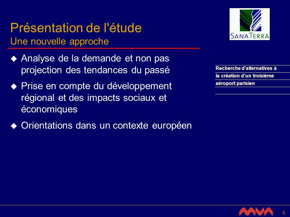 27 Recherche dalternatives à la création dun troisième aéroport parisien Définir la politique aéroportuaire dans un cadre européen (2/4) Le réseau transeuropéen à l horizon 2010 Partie d un système aéroportuaire international Composantes internationales Partie de composantes communautaires Composantes communautaires Composantes régionales et d accessibilité