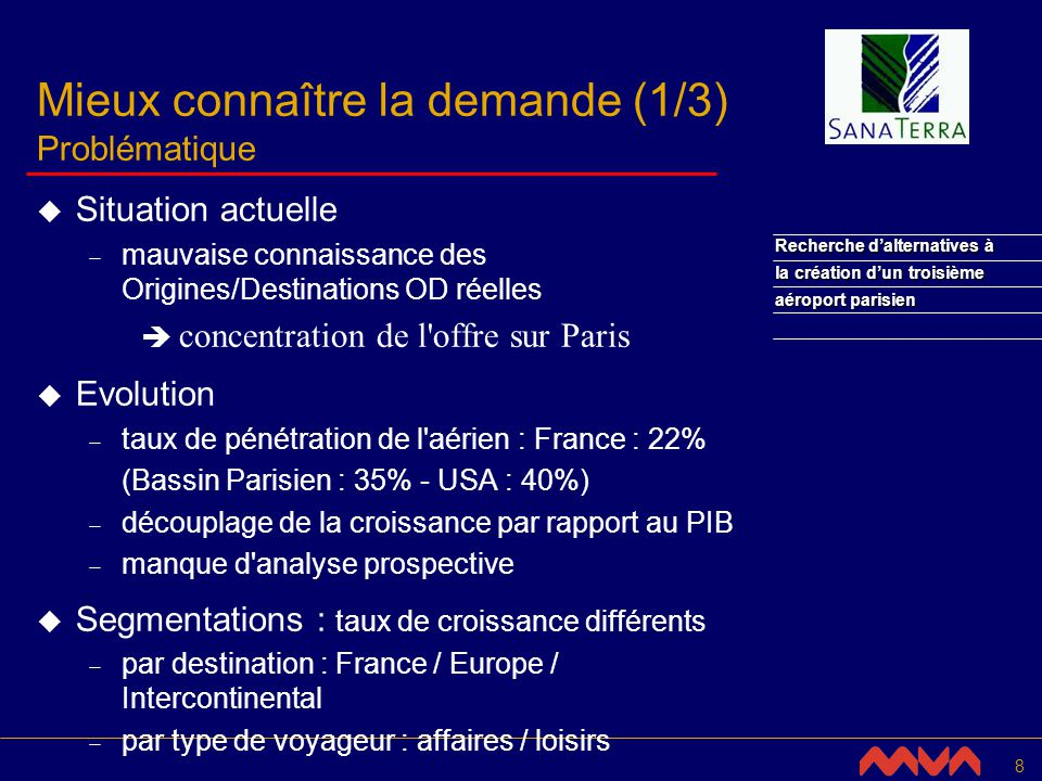 19 Recherche dalternatives à la création dun troisième aéroport parisien 3.