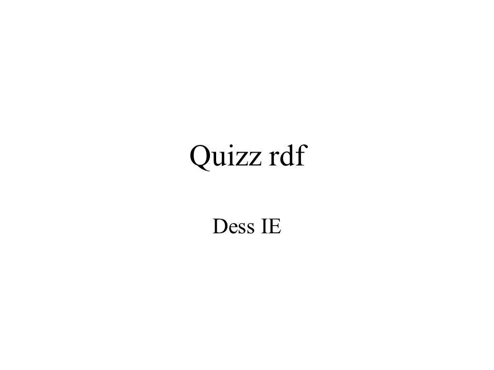 Quizz rdf Dess IE