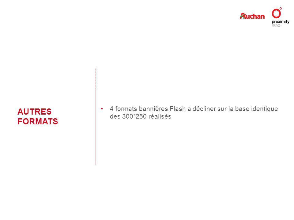 AUTRES FORMATS 4 formats bannières Flash à décliner sur la base identique des 300*250 réalisés