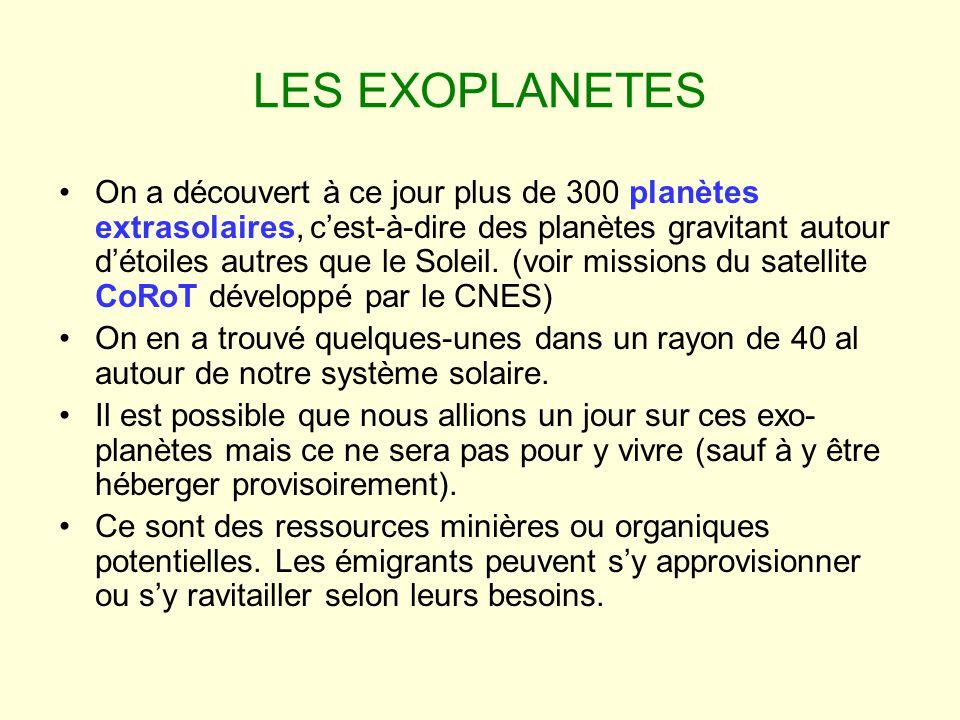 LES EXOPLANETES On a découvert à ce jour plus de 300 planètes extrasolaires, cest-à-dire des planètes gravitant autour détoiles autres que le Soleil.