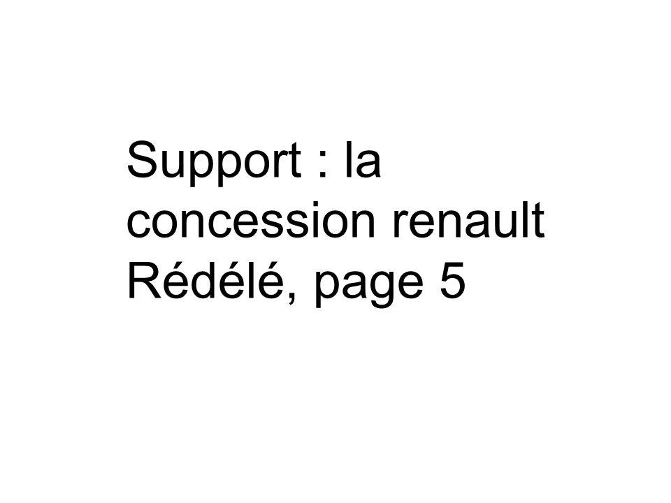 Support : la concession renault Rédélé, page 5