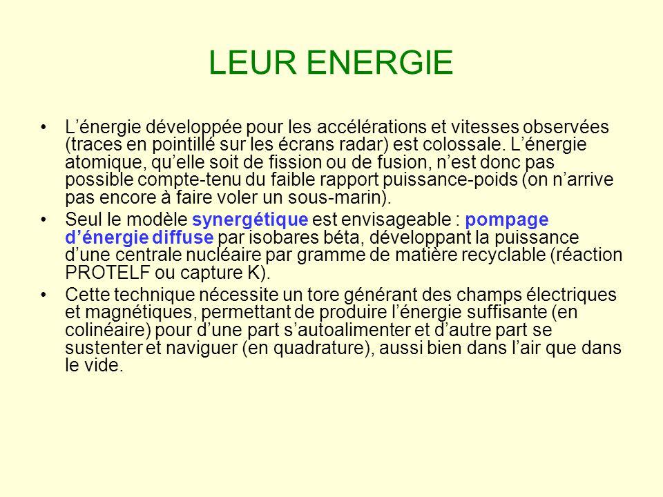 LEUR ENERGIE Lénergie développée pour les accélérations et vitesses observées (traces en pointillé sur les écrans radar) est colossale.