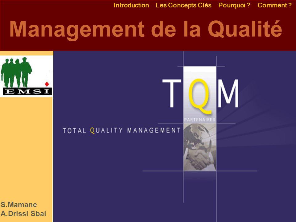 Emmanuel Delannoy e.delannoy@noolithic.com www.noolithic.com Management de la Qualité Introduction Les Concepts Clés Pourquoi .