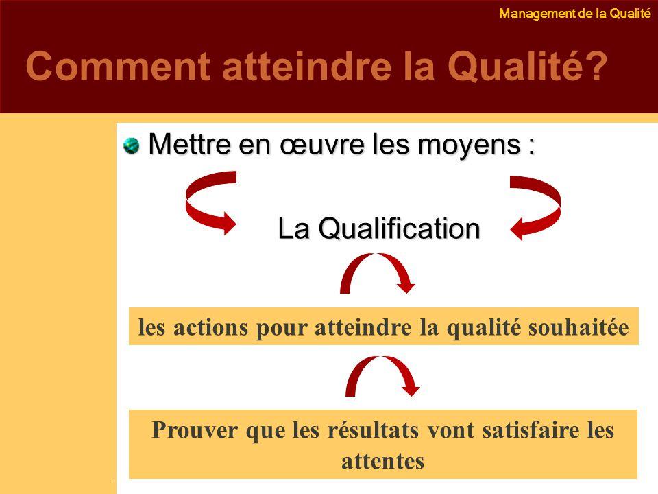 Management de la Qualité Emmanuel Delannoy e.delannoy@noolithic.com www.noolithic.com Comment atteindre la Qualité.
