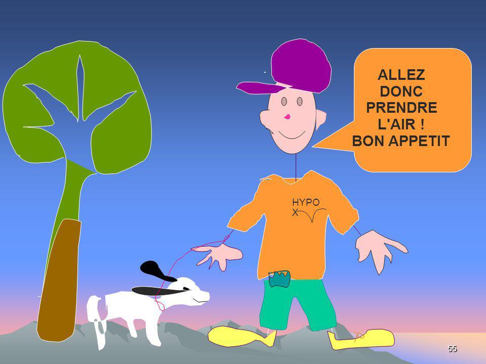 55 HYPO X. ALLEZ DONC PRENDRE L'AIR ! BON APPETIT