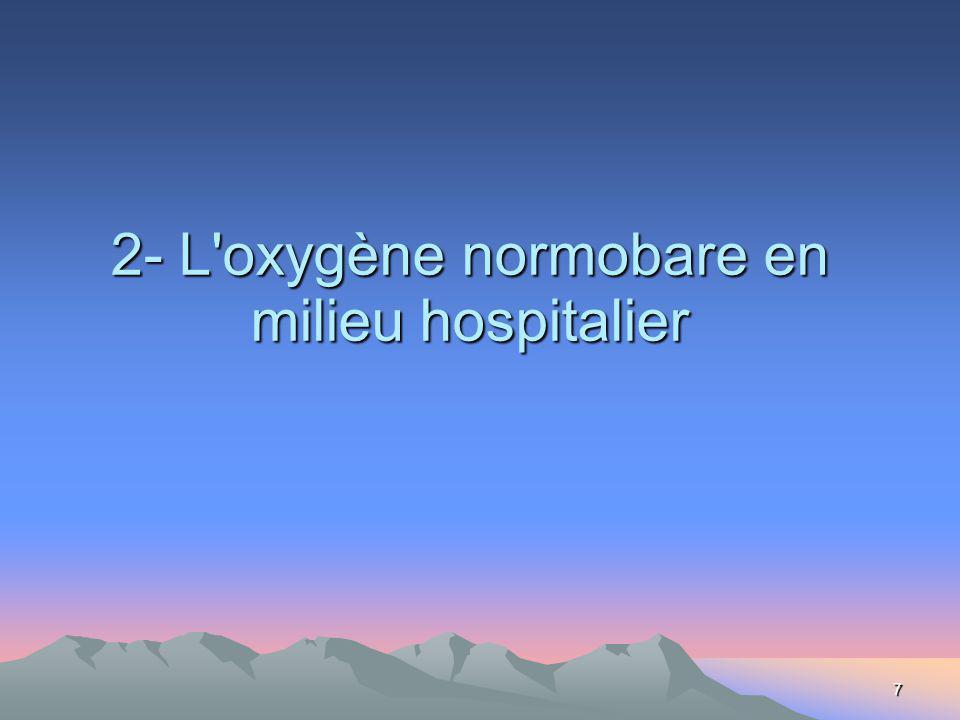 7 2- L oxygène normobare en milieu hospitalier