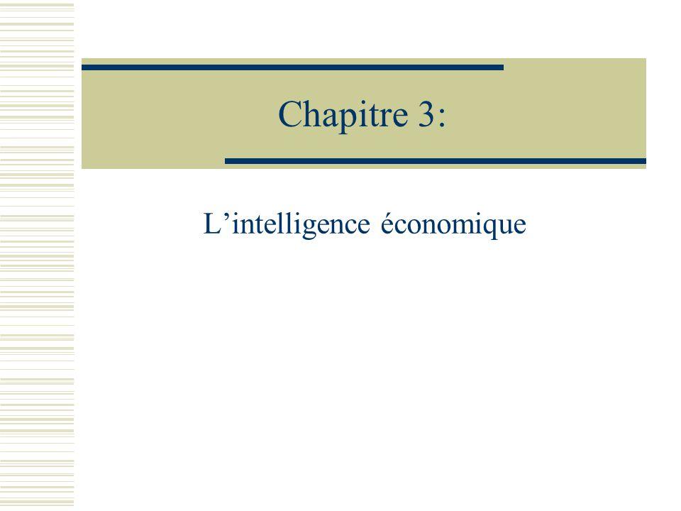 Définition « Lintelligence économique, cest la maîtrise et la protection de linformation stratégique utile pour tout acteur économique.