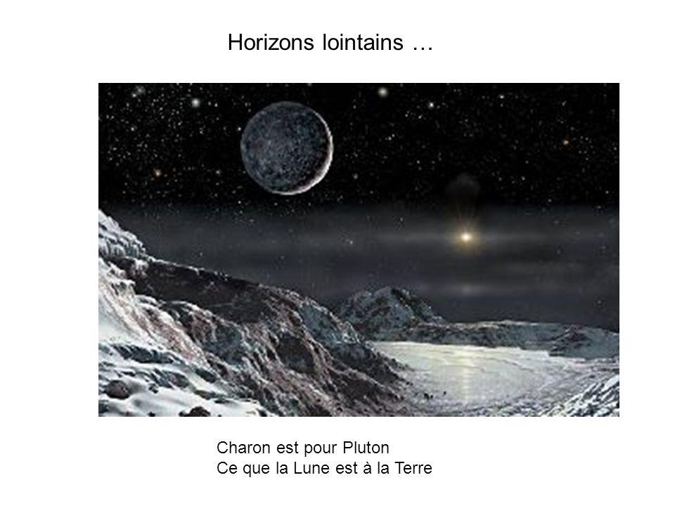 Horizons lointains … Charon est pour Pluton Ce que la Lune est à la Terre