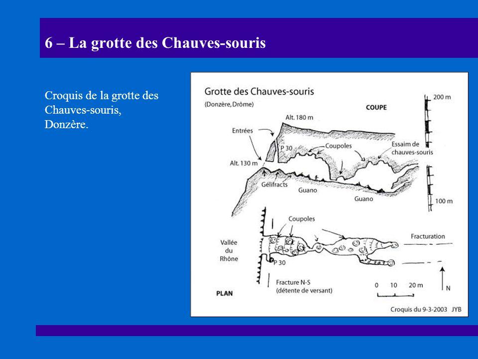 6 – La grotte des Chauves-souris Croquis de la grotte des Chauves-souris, Donzère.