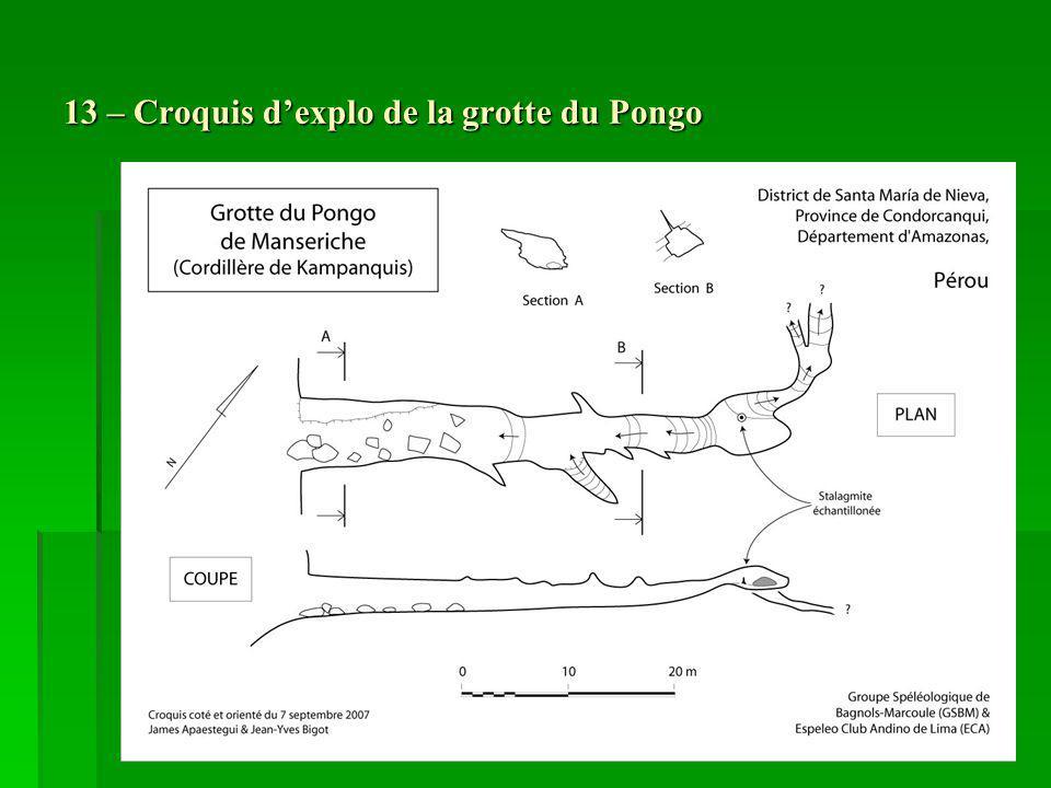 13 – Croquis dexplo de la grotte du Pongo