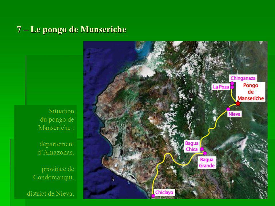 58 – Bilan de la reconnaissance spéléologique Après trois semaines de périple à travers le département dAmazonas nous avons reconnu des grottes dans trois secteurs différents : -le karst du Pongo de Manseriche (province de Condorcanqui), - le karst de Villa Flor (province de Bagua), - le karst de Gato Dormido (province de Bongará).