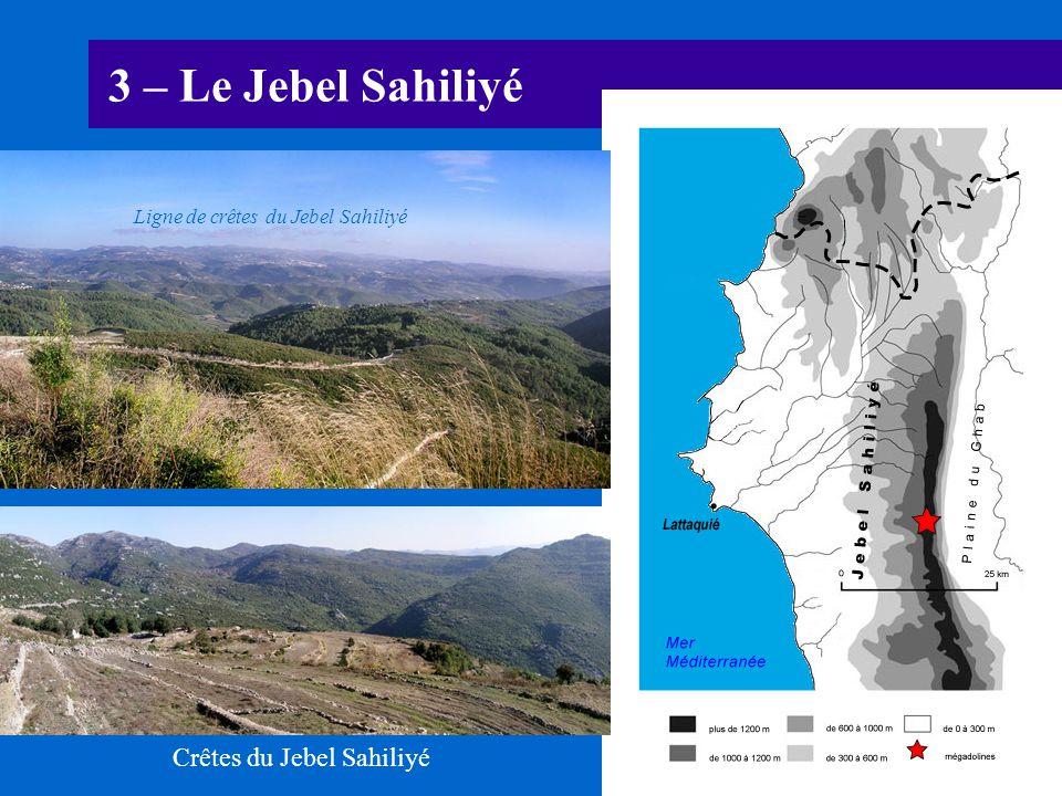3 – Le Jebel Sahiliyé Ligne de crêtes du Jebel Sahiliyé Crêtes du Jebel Sahiliyé