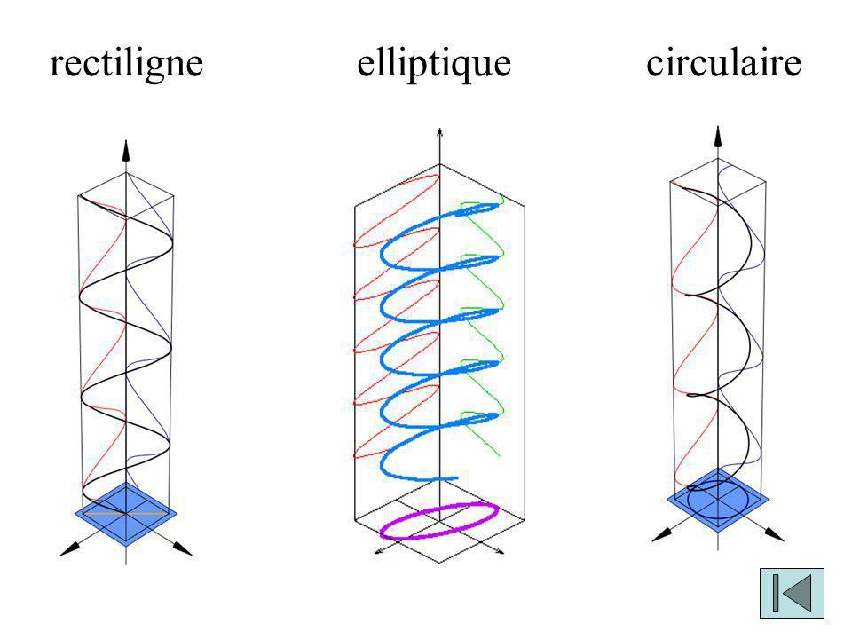 rectiligne elliptique circulaire