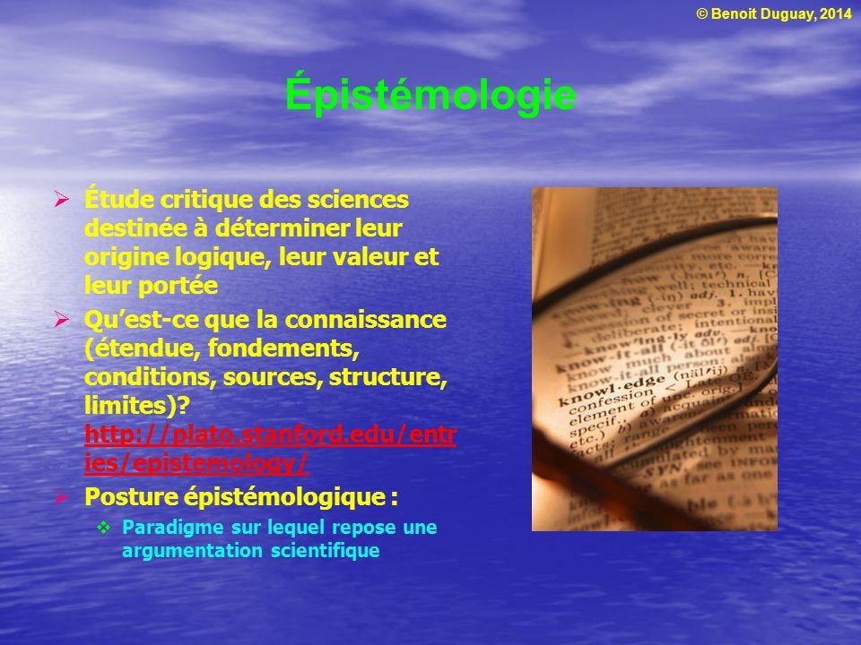 © Benoit Duguay, 2014 Paradigme Modèle de référence ou de pensée T.