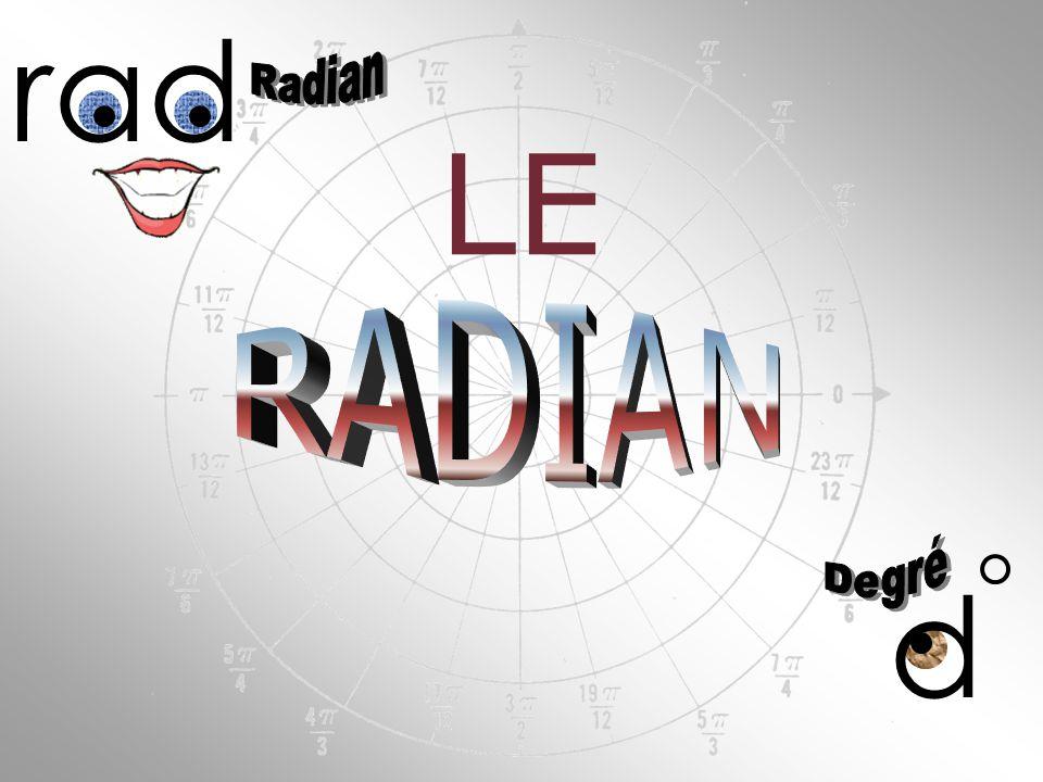 d Le mot radian fit son apparition pour la première fois en 1873.
