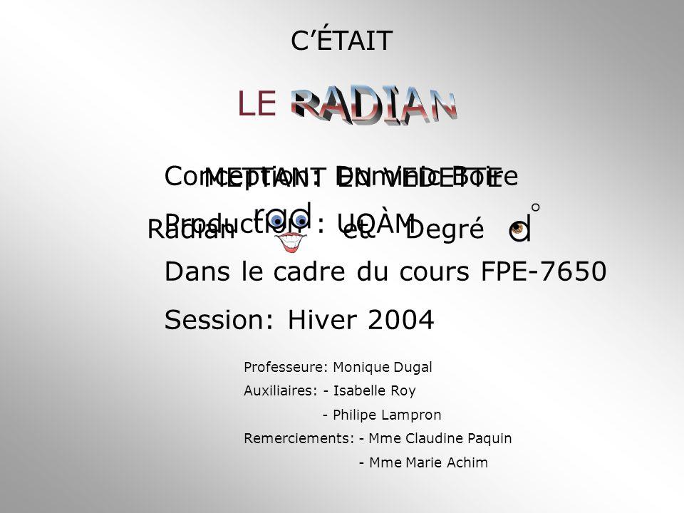 Conception: Dominic Boire Production : UQÀM Dans le cadre du cours FPE-7650 Session: Hiver 2004 Professeure: Monique Dugal Auxiliaires: - Isabelle Roy