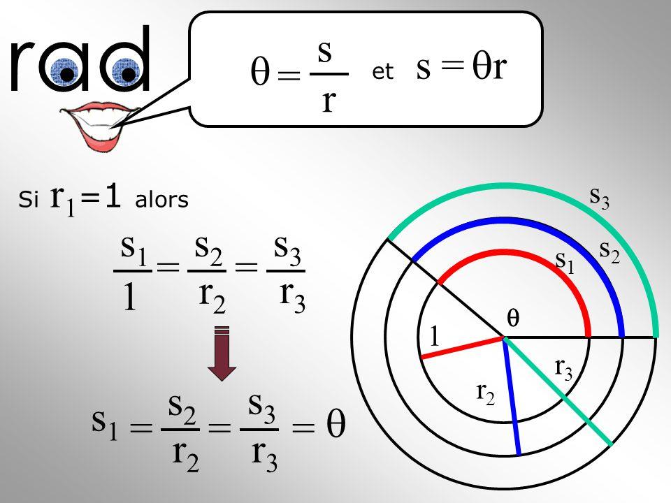 Si r 1 = 1 alors s3s3 s2s2 s1s1 1 r2r2 r3r3 rad s = r = s r et s1s1 1 s2s2 r2r2 s3s3 r3r3 == s1s1 s2s2 r2r2 s3s3 r3r3 ===