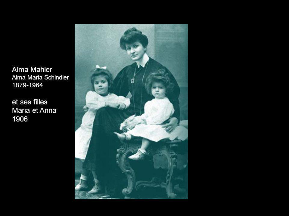Alma Mahler Alma Maria Schindler 1879-1964 et ses filles Maria et Anna 1906