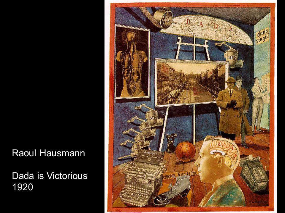Raoul Hausmann Dada is Victorious 1920