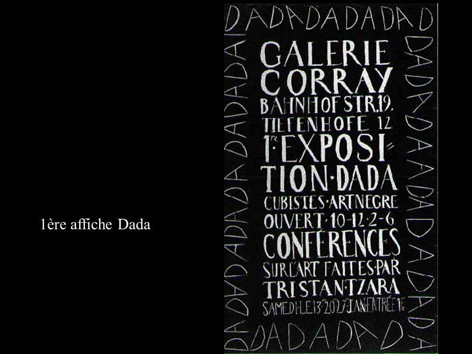 Manifeste Dada d Hugo Ball (1886-1927) lu lors de la soirée Dada du 14 juillet 1916 au Cabaret Voltaire, publié en allemand in Paul Pörtner : Literatur-Revolution 1910-1925, Luchterhand, 1961.