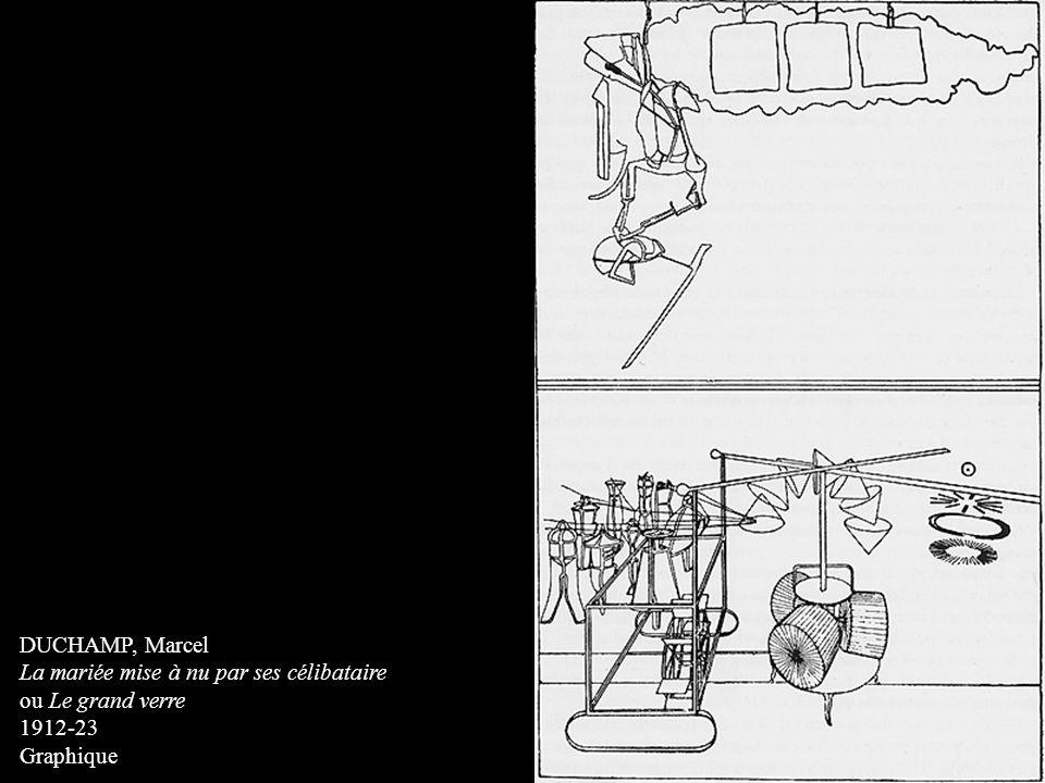 DUCHAMP, Marcel La mariée mise à nu par ses célibataire ou Le grand verre 1912-23 Graphique