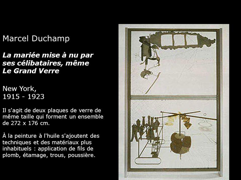Marcel Duchamp La mariée mise à nu par ses célibataires, même Le Grand Verre New York, 1915 - 1923 Il s'agit de deux plaques de verre de même taille q
