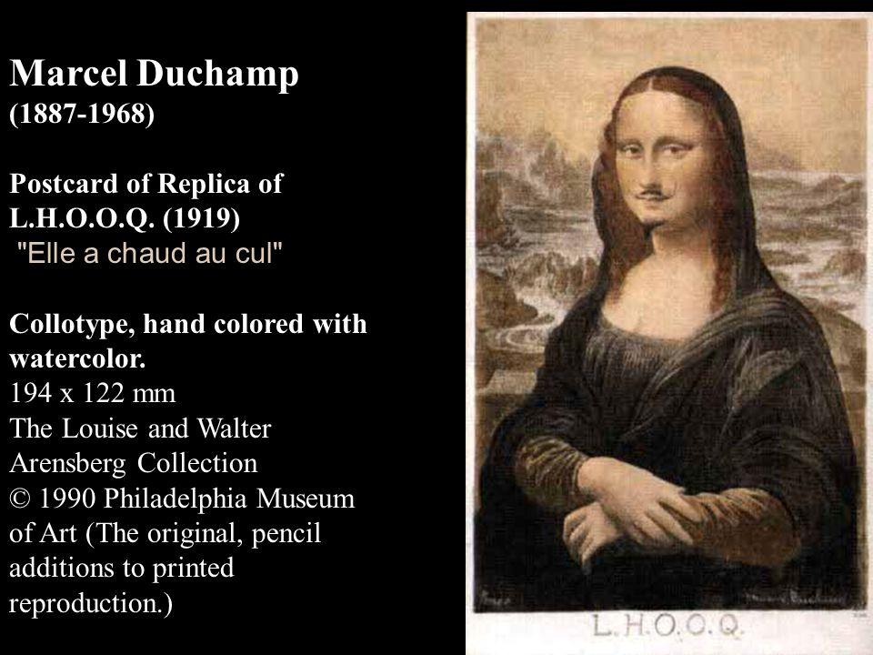 Marcel Duchamp (1887-1968) Postcard of Replica of L.H.O.O.Q. (1919)
