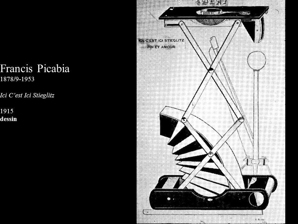 Francis Picabia 1878/9-1953 Ici Cest Ici Stieglitz 1915 dessin