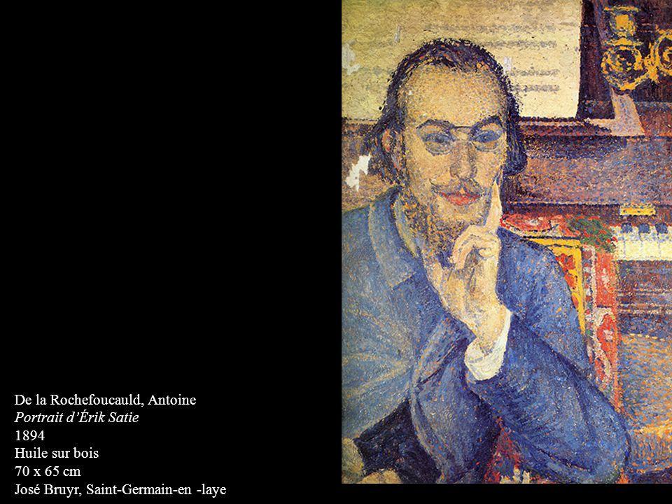 De la Rochefoucauld, Antoine Portrait dÉrik Satie 1894 Huile sur bois 70 x 65 cm José Bruyr, Saint-Germain-en -laye