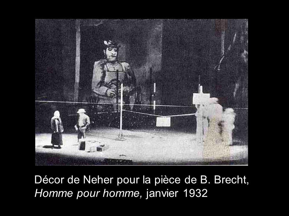 Décor de Neher pour la pièce de B. Brecht, Homme pour homme, janvier 1932