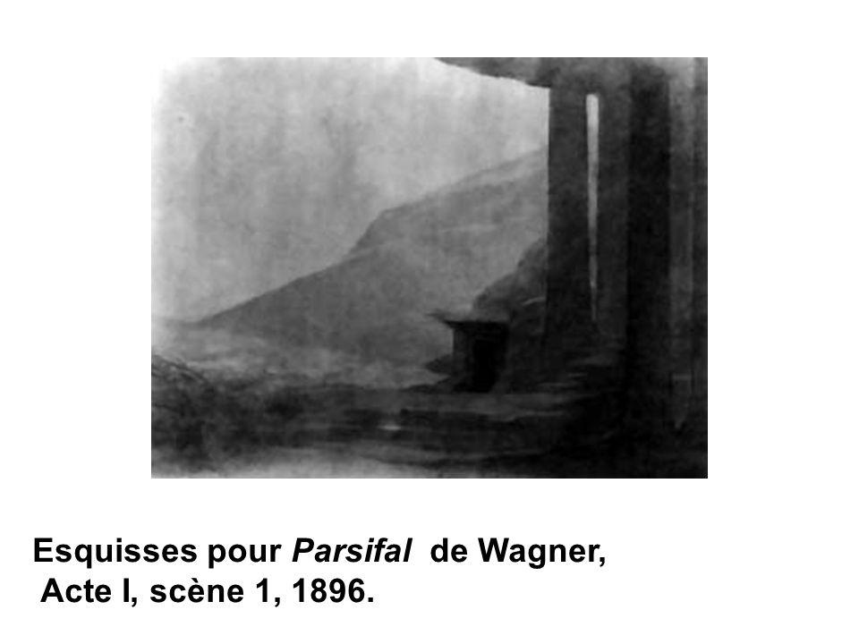 Esquisses pour Parsifal de Wagner, Acte I, scène 1, 1896.