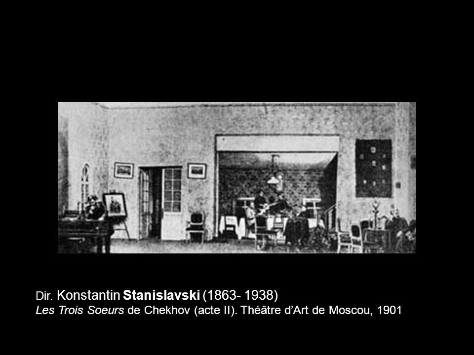 Dir. Konstantin Stanislavski (1863- 1938) Les Trois Soeurs de Chekhov (acte II). Théâtre dArt de Moscou, 1901