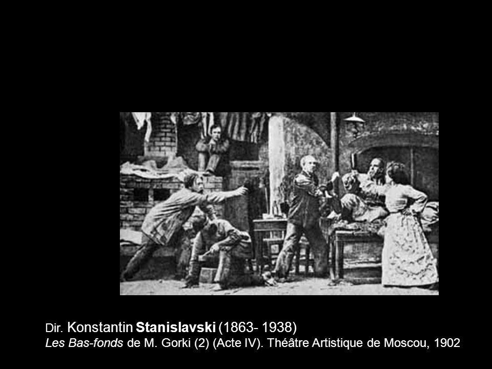 Dir. Konstantin Stanislavski (1863- 1938) Les Bas-fonds de M. Gorki (2) (Acte IV). Théâtre Artistique de Moscou, 1902