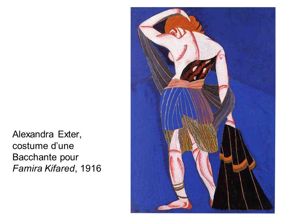 Alexandra Exter, costume dune Bacchante pour Famira Kifared, 1916