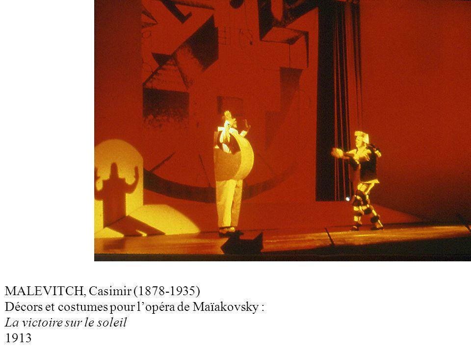 MALEVITCH, Casimir (1878-1935) Décors et costumes pour lopéra de Maïakovsky : La victoire sur le soleil 1913
