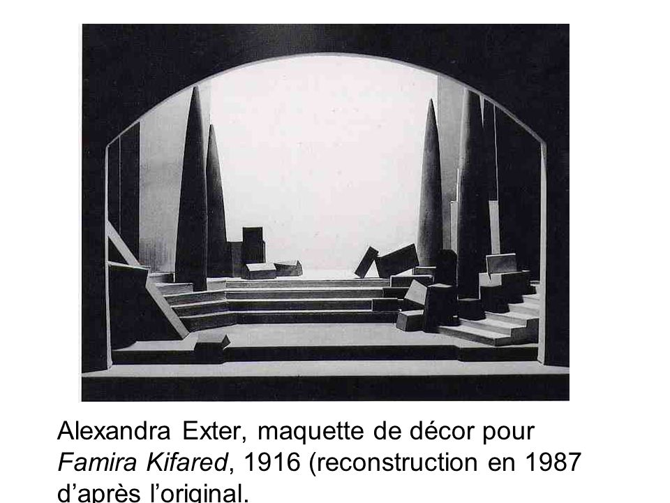 Alexandra Exter, maquette de décor pour Famira Kifared, 1916 (reconstruction en 1987 daprès loriginal.
