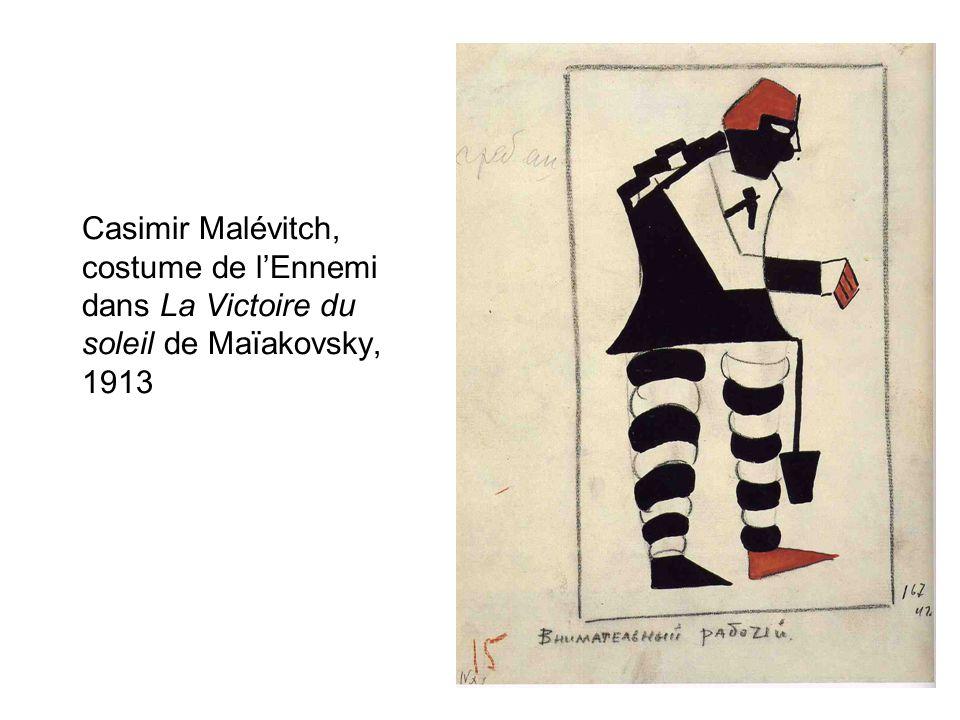 Casimir Malévitch, costume de lEnnemi dans La Victoire du soleil de Maïakovsky, 1913