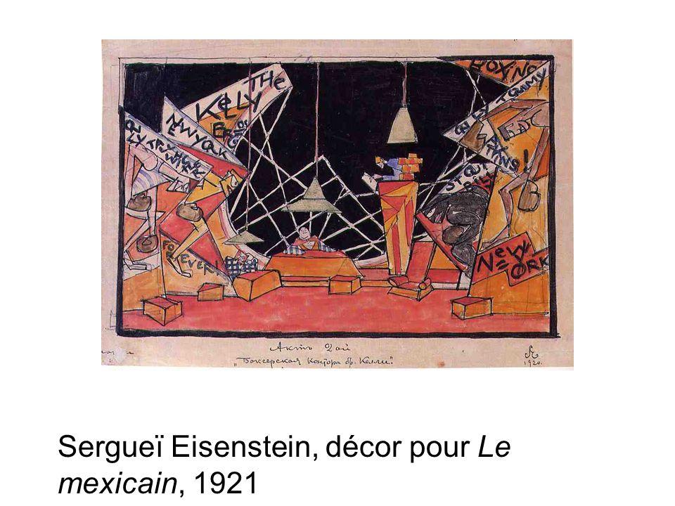 Sergueï Eisenstein, décor pour Le mexicain, 1921