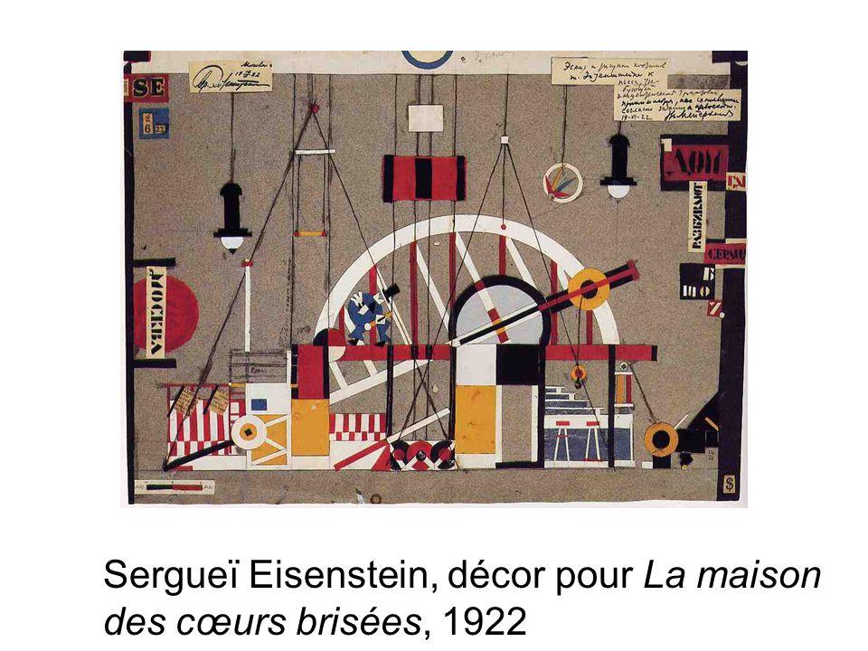 Sergueï Eisenstein, décor pour La maison des cœurs brisées, 1922