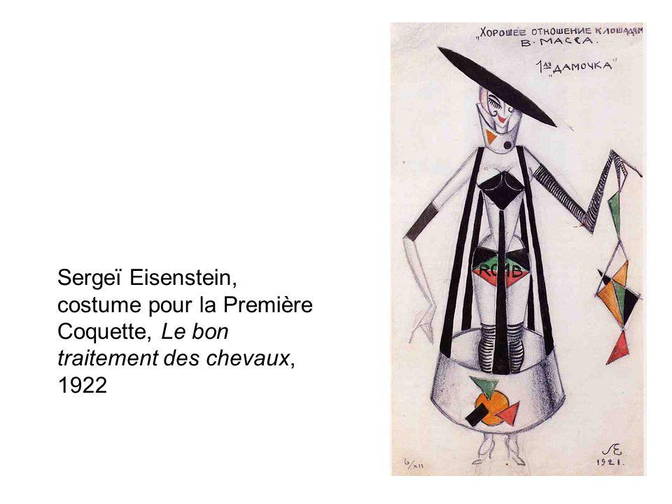 Sergeï Eisenstein, costume pour la Première Coquette, Le bon traitement des chevaux, 1922