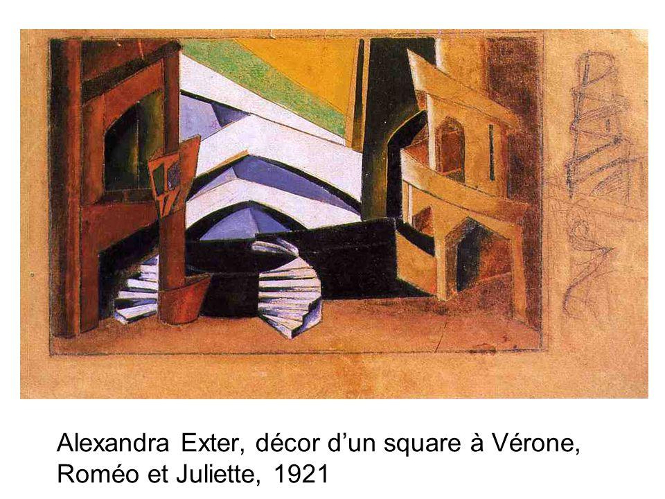 Alexandra Exter, décor dun square à Vérone, Roméo et Juliette, 1921