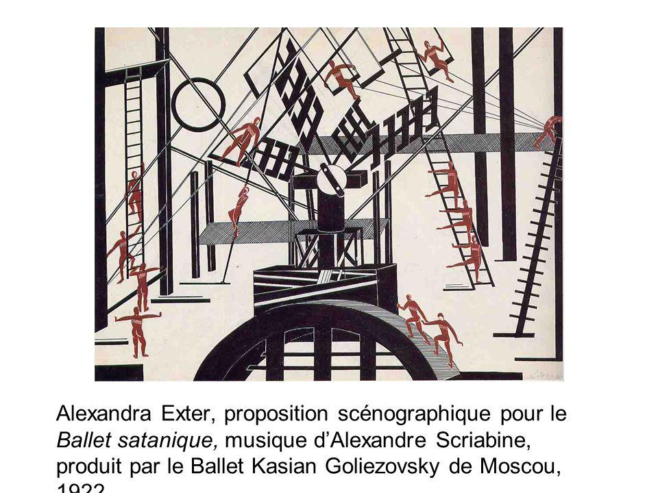 Alexandra Exter, proposition scénographique pour le Ballet satanique, musique dAlexandre Scriabine, produit par le Ballet Kasian Goliezovsky de Moscou