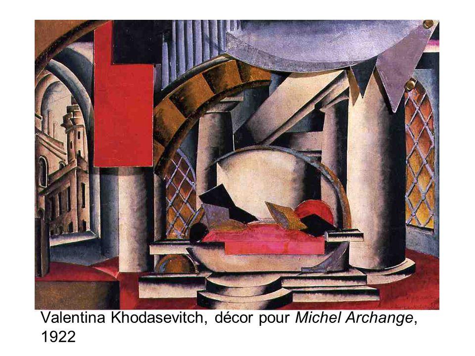 Valentina Khodasevitch, décor pour Michel Archange, 1922