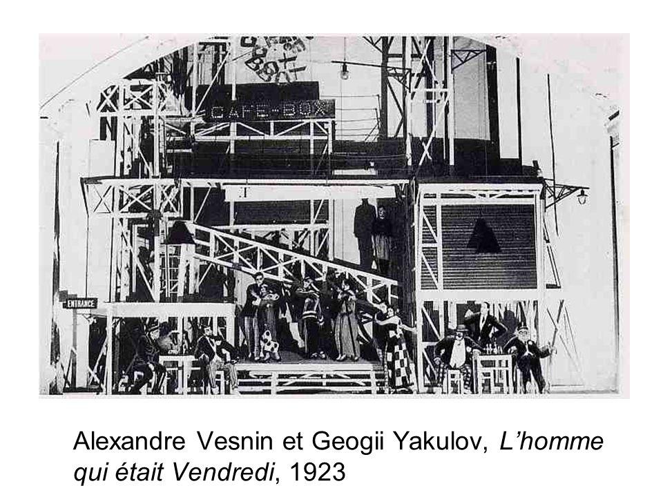 Alexandre Vesnin et Geogii Yakulov, Lhomme qui était Vendredi, 1923