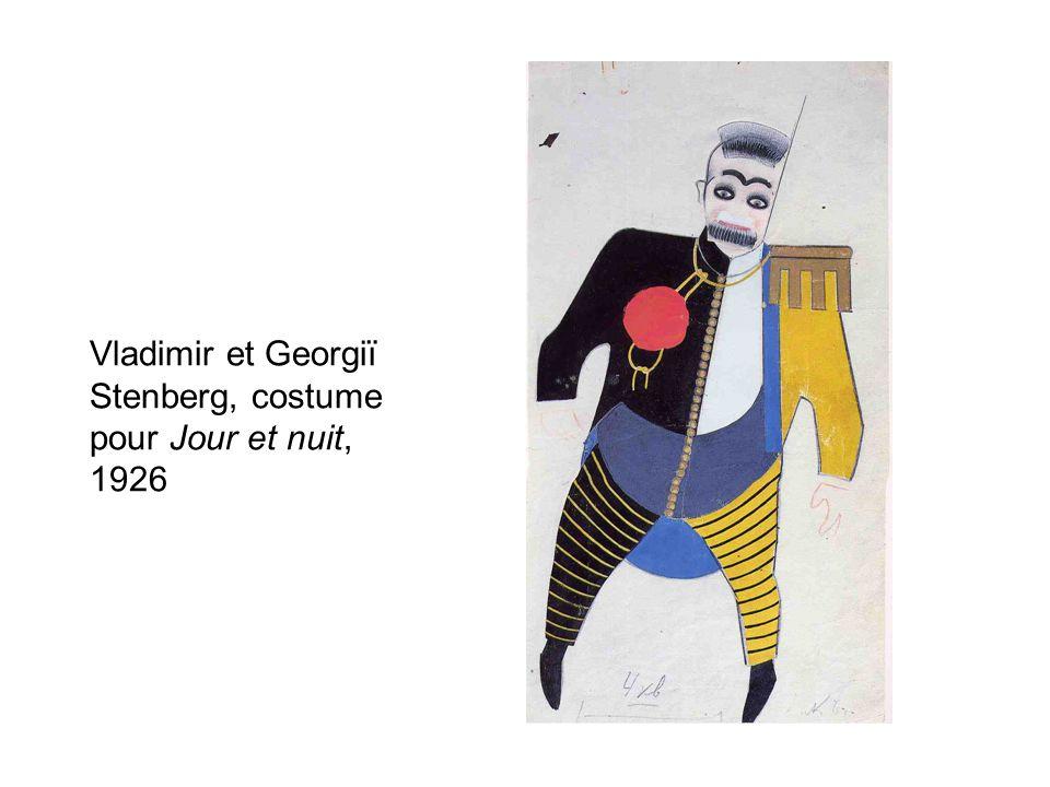 Vladimir et Georgiï Stenberg, costume pour Jour et nuit, 1926