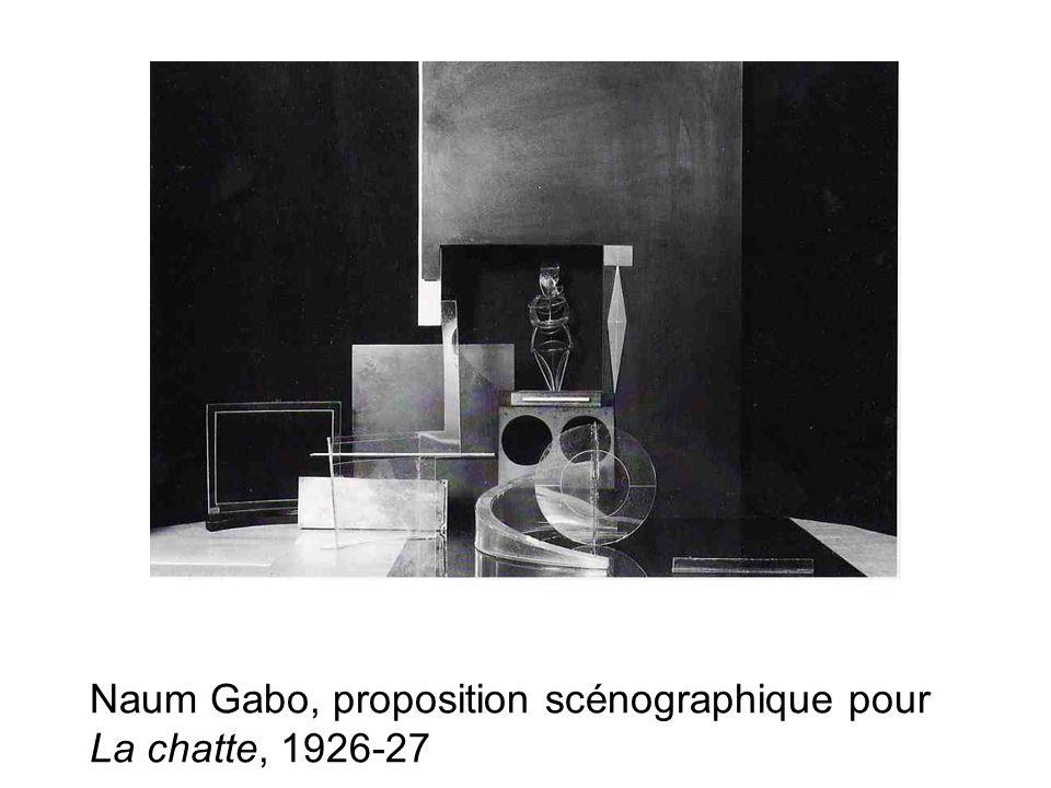 Naum Gabo, proposition scénographique pour La chatte, 1926-27