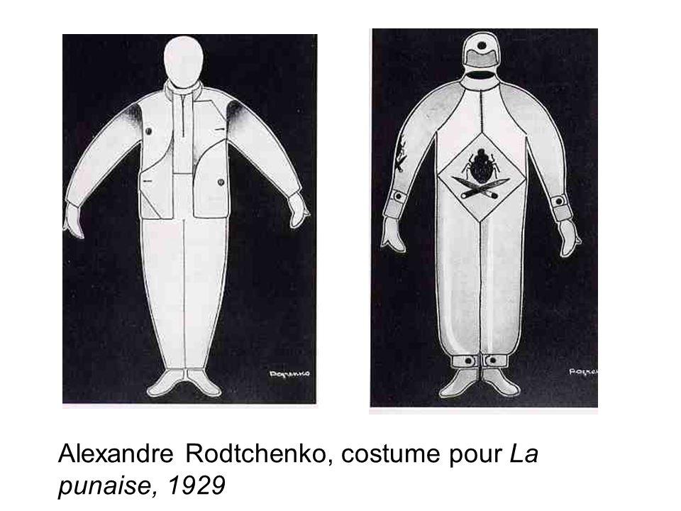 Alexandre Rodtchenko, costume pour La punaise, 1929