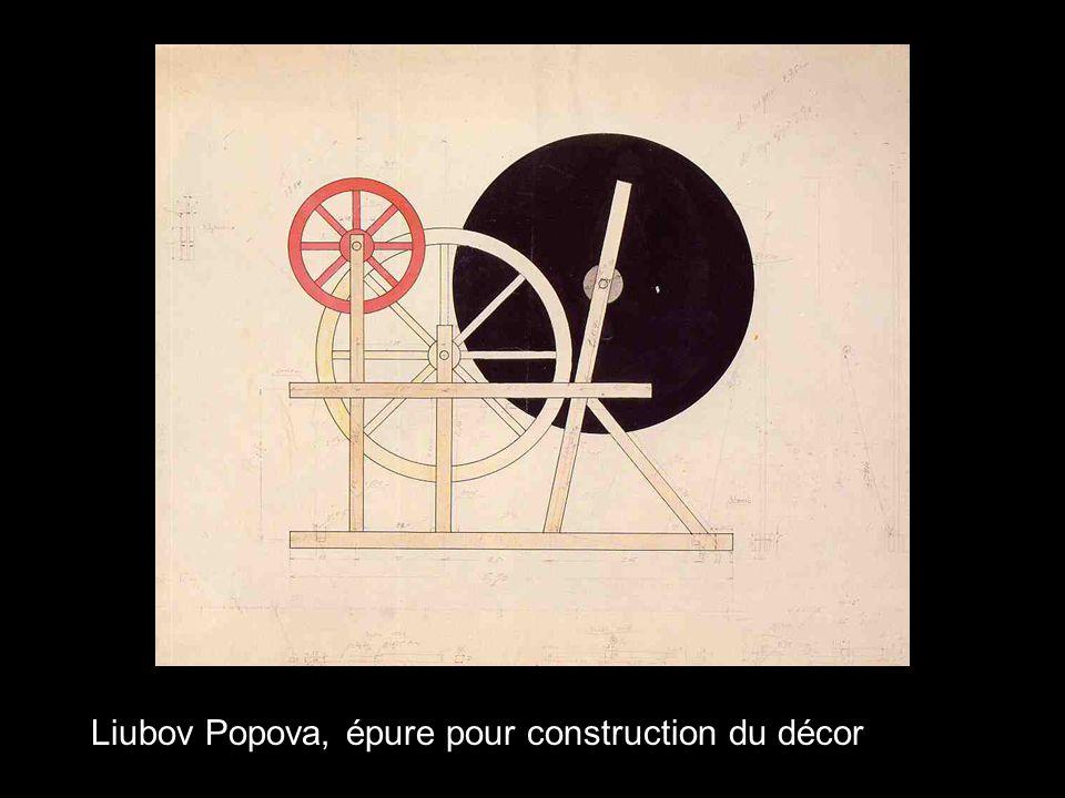 Liubov Popova, épure pour construction du décor
